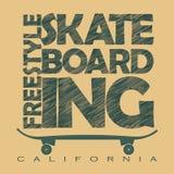 Skateboarding t-shirt graphics Royalty Free Stock Photography