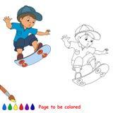 skateboarding Un patinador del bebé en patín Imagen de archivo libre de regalías