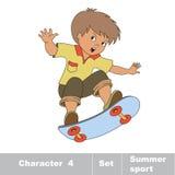 skateboarding Un patinador del bebé en patín Fotos de archivo