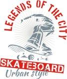 Skateboarding - urban style, vector illustration Stock Photos