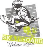 Skateboarding - urban style, vector illustration Royalty Free Stock Photos