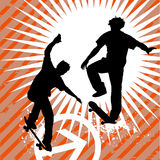 Skateboarding vector Stock Photography