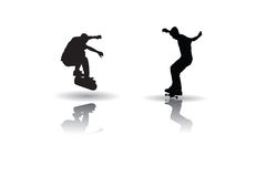 Skateboarding vector Stock Photos