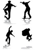 skateboarding vector Stock Images