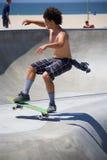 Skateboarding at Venice Beach Stock Image