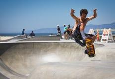 Skateboarding at Venice Beach Royalty Free Stock Photos