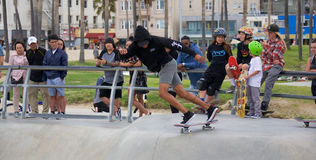 Skateboarding at Venice Beach Stock Images