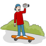 Skateboarding Video. An image of young man making a skateboarding video Royalty Free Stock Images