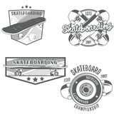 Skateboarding vintage logotypes. Set of skateboarding vintage logotypes, labels, badges, icons and design templates. Vector Stock Photography
