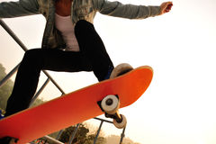 Skateboarding woman Stock Photography