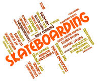 Skateboarding Words Shows Activity Skateboarders And Boarder Royalty Free Stock Photo