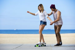 Skateboarding workshop Royalty Free Stock Photography
