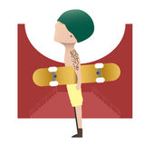 Skateboardjongen Stock Afbeeldingen