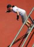 Skateboardmädchen Stockbild