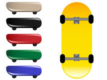 Skateboards. Vector illustration of colored skateboards Royalty Free Illustration