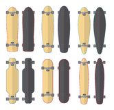 Skateboards and Longboards Stock Photo