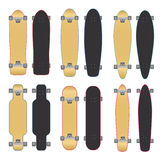Skateboards and Longboards Royalty Free Stock Images