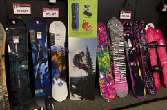 Skateboards in store Stock Image