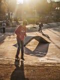 Skateboradåkare i Santiago Arkivfoton