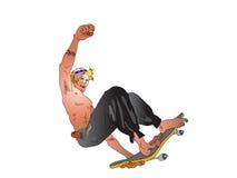 Skateboradåkarepojke 01 arkivfoton