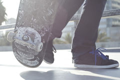 Skateboradåkarepojke Royaltyfri Fotografi