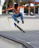 Skateborder maschio Fotografia Stock