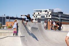 Skatepark κοντά στο Μάλμοε, Σουηδία Στοκ Φωτογραφίες