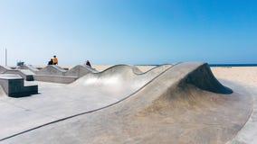 Skatepark на пляже в Калифорнии США Стоковые Изображения RF
