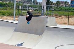 Skatepark Backflip Royaltyfri Bild
