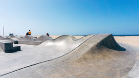 Skatepark on a beach in California USA Royalty Free Stock Images
