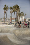 Skatepark da praia de Veneza. imagem de stock