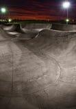 Skatepark en la puesta del sol Foto de archivo libre de regalías