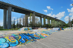 Skatepark EXPO στη Λισσαβώνα, Πορτογαλία Στοκ Εικόνα