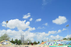 Skatepark Expo in Lissabon, Portugal Royalty-vrije Stock Afbeelding