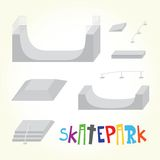 Skatepark isolated vector parts Stock Photos