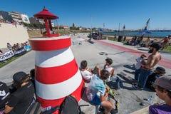 Skatepark overview during the DC Skate Challenge Stock Photo