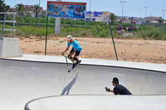 Skatepark Scooter Stunt Royalty Free Stock Image