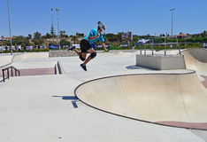 Skatepark sparkcykeljippo Royaltyfria Foton