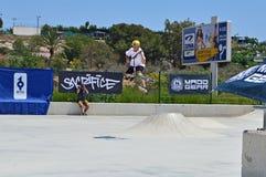 Skatepark trick Arkivfoto