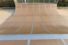 Skatepark vert ramp. In public royalty free stock photography