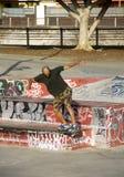 Skater. Evolution of a skateboarder in a public park Stock Photo