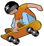 Skater. Vector illustration Young skater jumping Royalty Free Illustration