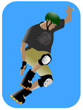 Skater. An illustration of a skater in action vector illustration