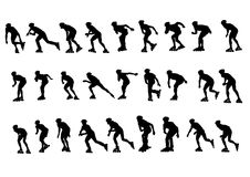 Skater. Vector figure skaters. Silhouettes on a white background. saved as a eps Royalty Free Stock Photography