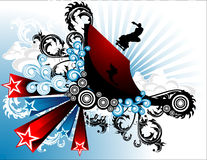 Skater abstract. Composition illustration Stock Illustration