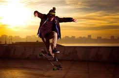 Skater adolescente Fotografía de archivo