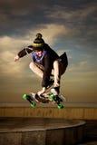 Skater adolescente Imágenes de archivo libres de regalías