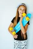 Skater adolescente Fotografia de Stock Royalty Free