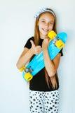 Skater adolescente Imagem de Stock