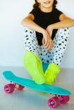 Skater adolescente Fotos de Stock Royalty Free